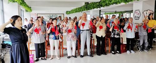 无锡、连云港两地三养老院同庆中国共产党百年华诞-第4张图片-护理院|养老院|老年公寓|无锡养老平台